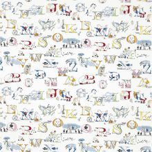 Ткань Little Sanderson Alphabet Zoo Embroidery 233924
